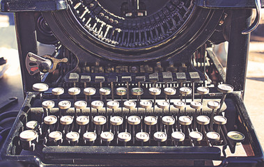 Vintage Manual Typewriter Keyboard