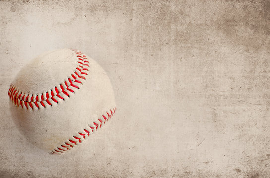 Grunge texture antique looking baseball.  Great background or graphic for the all american sport or ball player athletes.