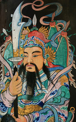 ancient Asian warrior painting