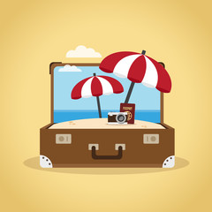Suitcase, travel concept illustration