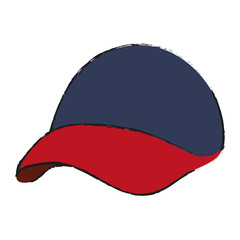 baseball hat icon image vector illustration design
