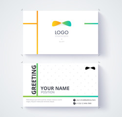 Business card template. Example logo and text position. vector illustration.