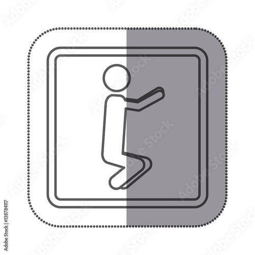 Figure person doing squats icon vector illustration design image - Figure libre architecture ...