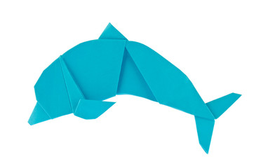 Blue sea dolphin of origami