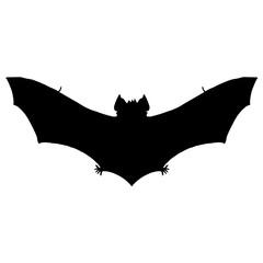 Bat silhouette. Black white icon. Vector illustration.