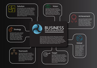 Abstract 3D digital illustration Infographic. Vector illustration can be used for workflow layout, diagram, number options, web design. Vector illustration template for brochure and business.
