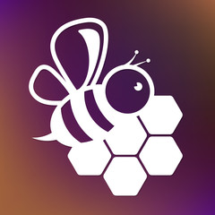 Bee and honeycombs design