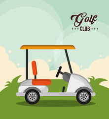 golf club car sport design vector illustration eps 10