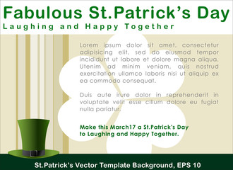 Abstrackt of St.Patrick's Day, Background Design, Vector and Illustration, EPS 10.