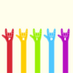 rainbow love foam hand collection