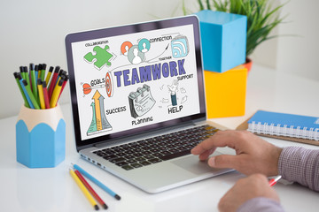 BUSINESS COMMUNICATION CORPORATE AND TEAMWORK CONCEPT