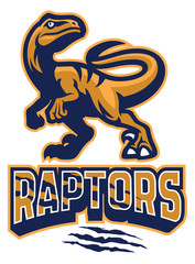 Set of Raptor mascot