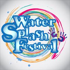 Abstract background Songkran Festival: The Water Splash Festival. Vector and Illustration, EPS 10