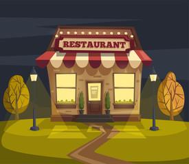 Photos, illustrations et vidéos de vector restaurant scene