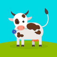 animal cow, vector icon.