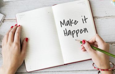 Make It Happen Planner Concept