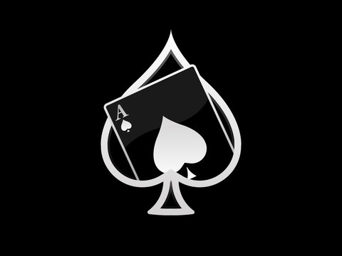 Ace of spades card logo