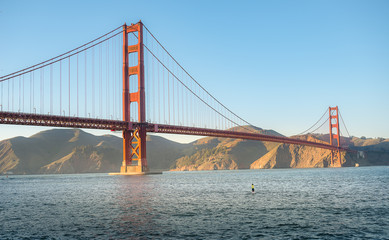 Surfing with Golden Gate Bridge, San Francisco