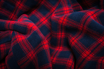 Fabric plaid texture. Cloth background