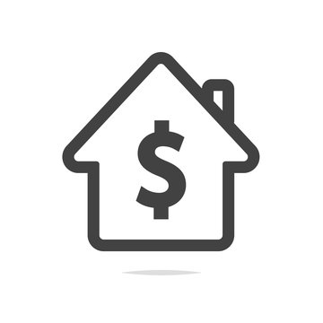 House icon with dollar sign