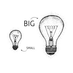 Dotwork Big Small Lightbulbs