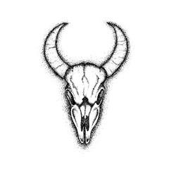 Dotwork Cow Skull