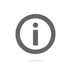 Information icon vector isolated