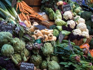 Vegetables for Sale in Borough Market