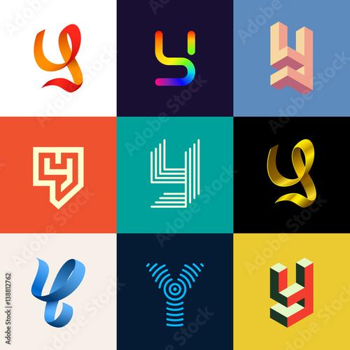 """Letter ""Y&q...Y Logo 3d"