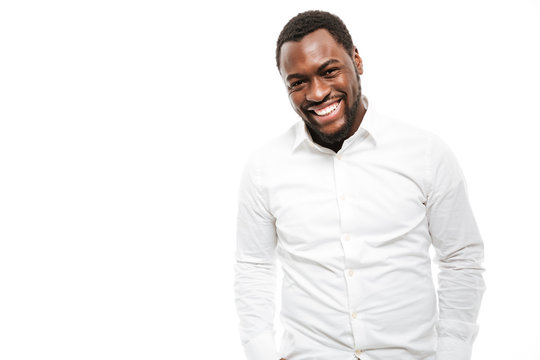 Handsome young african man dressed in shirt