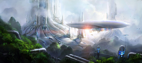Obraz Science fiction scene. - fototapety do salonu