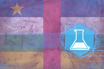 Central African Republic chemistry. Chemical industry concept.