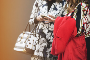 Stylish ladies during London Fashion Week