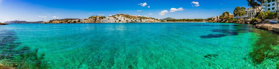 Mediterranean Sea Spain Majorca beautiful panorama of the coastline in Santa Ponca