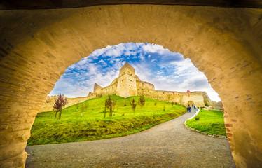 Medieval Fortress Rupea, Brasov landmark, Transylvania, Romania