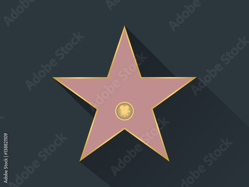 walk of fame star icon stock image and royalty free