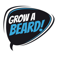 grow a beard retro speech balloon