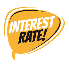 interest rate retro speech balloon