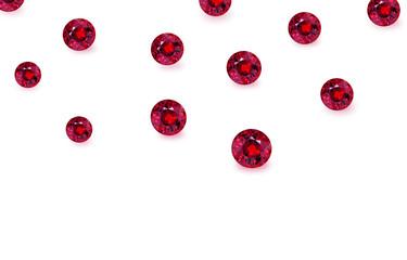 Beautiful gem stones isolated on white