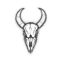 Cow Skull Dotwork