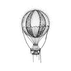 Hot Air Balloon Dotwork
