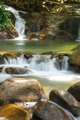 Beautiful Krathing waterfall in Khao Khitchakut National Park Chanthaburi Province, Thailand.