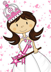 Cute Cartoon Royal Fairytale Princess