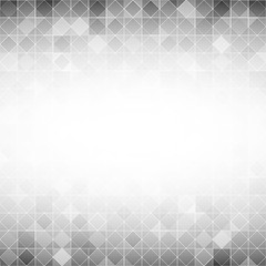 light grey square grid mosaic background with white color in center with abstract concept vector illustration