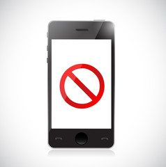 Smartphone with a negative sign. Dont.