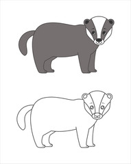 Badger for coloring boo