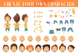 Creation Of Character Boy Set