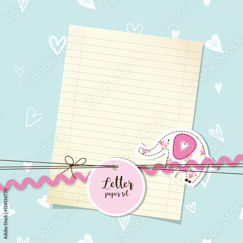 Letter paper set Message Thank you letter paper background – Baby Arrival Announcement Messages