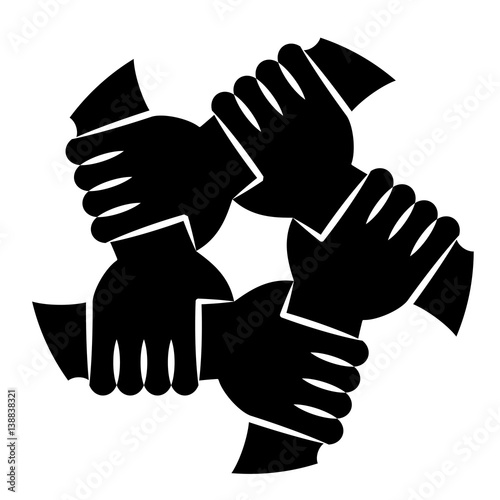 quotvector illustration of five human hands silhouettes