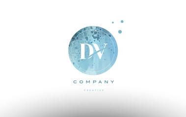 dv d v  watercolor grunge vintage alphabet letter logo